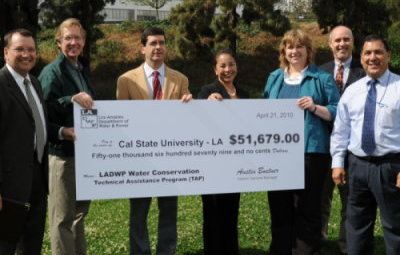 CSULA Awarded over $50,000 Check